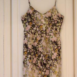 Madewell Floral Silk Sundress Casual Dress